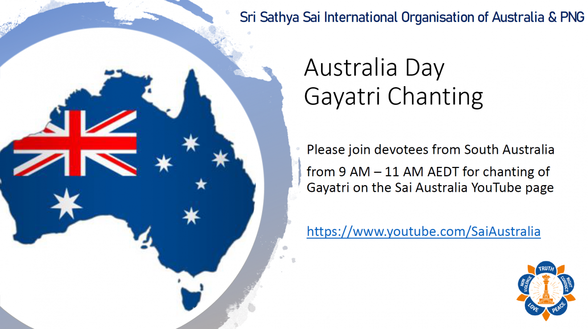 Gayatri Chanting on Australia Day by SSSIO