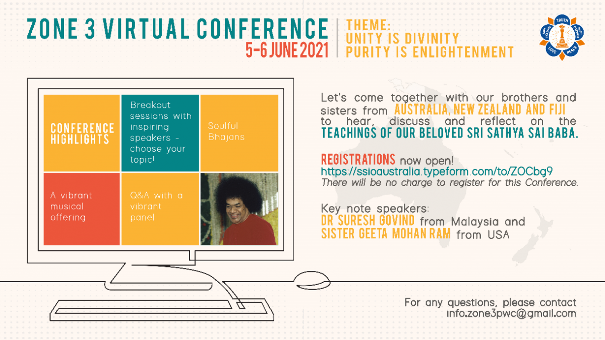 Zone 3 Conference 2021 – Unity is Divinity, Purity is Enlightenment